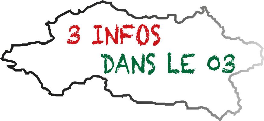 3 infos dans le 03 - Mardi 26 Janvier 2021 - Allier Pop Rock
